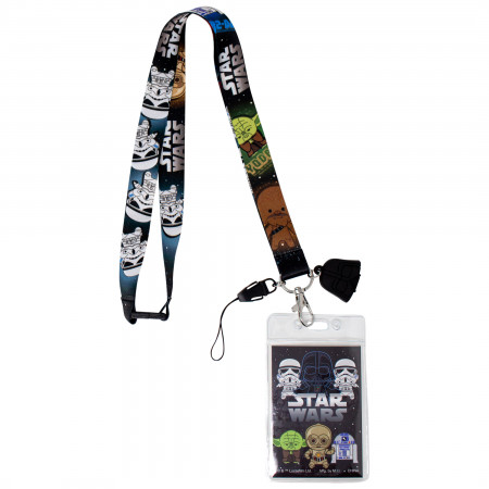 Star Wars Darth Vader Lanyard with ID Badge Holder and Dangle