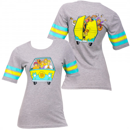 Scooby Doo Mystery Machine Front and Back Women's T-Shirt