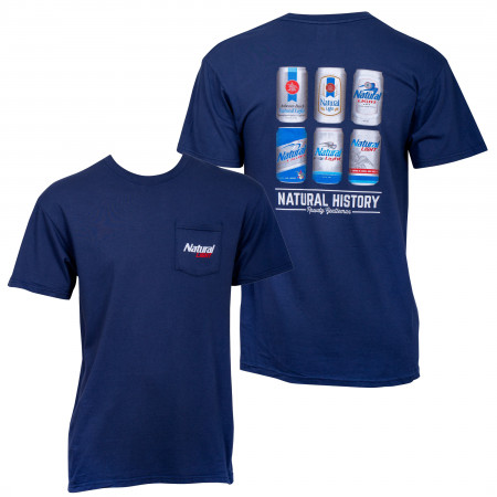 Natty Light Natural History Rowdy Gentleman Blue Men's T-Shirt