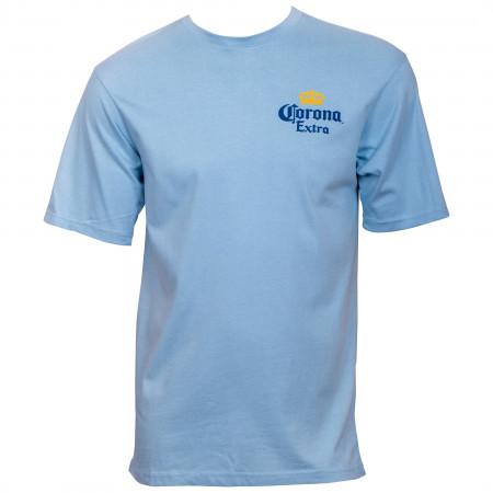 Corona Extra At The Beach Blue T-Shirt