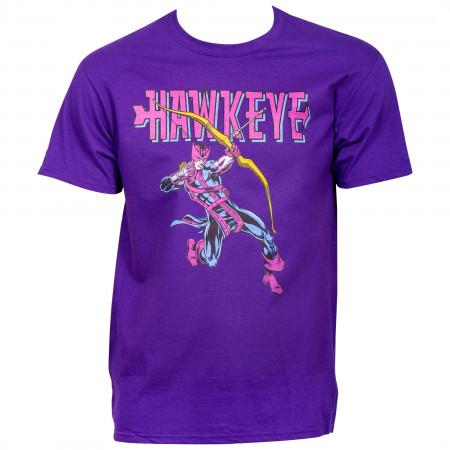 Hawkeye Retro Archer Purple T-Shirt