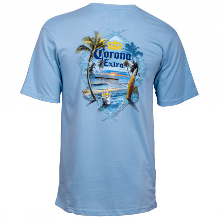 Corona Extra At The Beach Blue T-Shirt