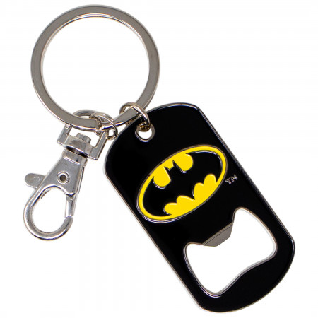 Batman Symbol Bottle Opener Keychain