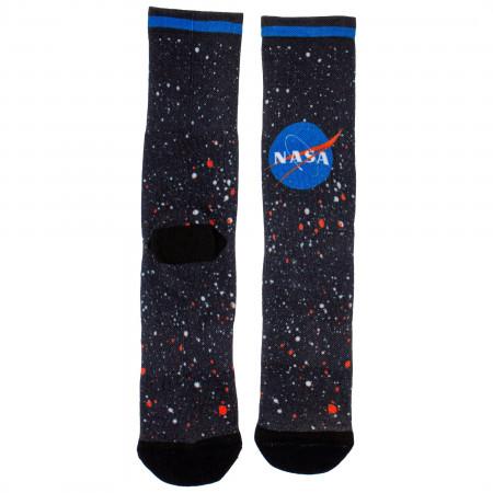 NASA Universe Logo Socks