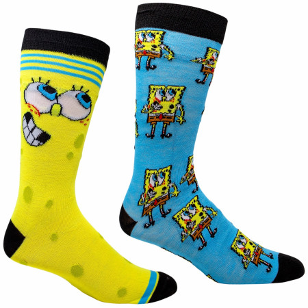 SpongeBob SquarePants and All Around 2-Pair Casual Socks