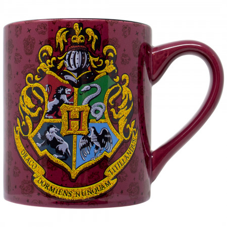Harry Potter Crest 14oz Glitter Ceramic Mug