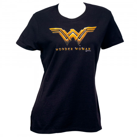 Wonder Woman Movie Logo Women's Black T-Shirt