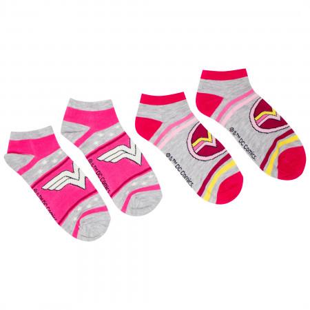 DC Comics Wonder Woman Assorted Women's 6-Pack Shorties Socks