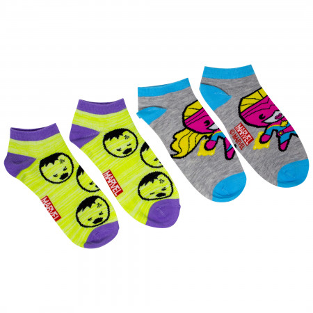 Marvel Avengers Heroes Assorted Women's 6-Pack Shorties Socks