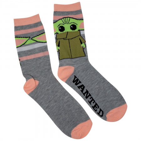 Star Wars The Mandalorian The Child Women's Casual Crew Socks