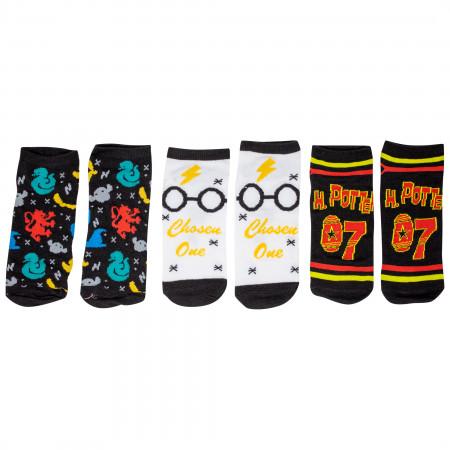 Harry Potter Chibi Sock of the Week Assorted Women's Shorties Socks 7-Pair Box Set