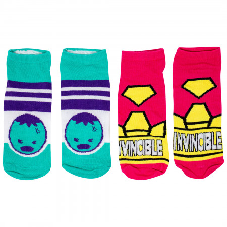Marvel Heroes Sock of the Week Assorted Women's Shorties Socks 7-Pair Box Set
