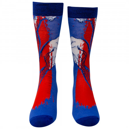 Spider-Man Red and Blue 2-Pack Casual Crew Socks