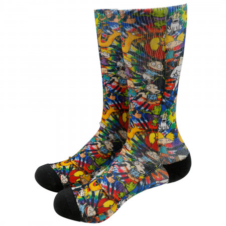 Nickelodeon Nicktoons Print All Over Socks