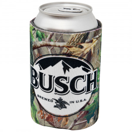 Busch Logo Camo Can Cooler