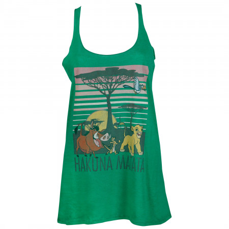 Lion King Women's Green Hakuana Matata Tank Top