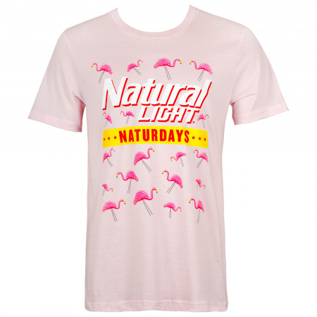 Natty Naturdays Flamingos Pink Tee Shirt