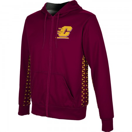 ProSphere Men's Central Michigan University Geometric Fullzip Hoodie