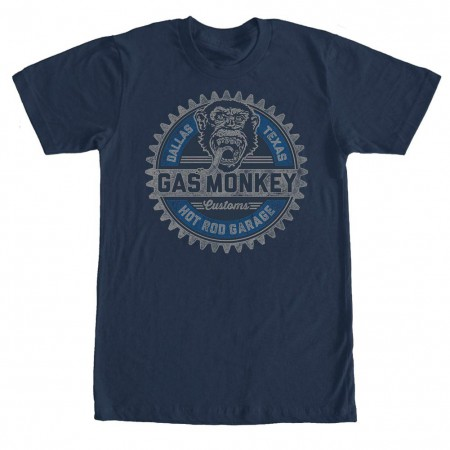 Gas Monkey Garage Geared Up Blue T-Shirt