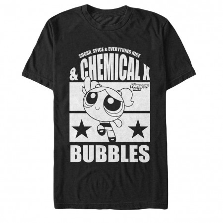 Power Puff Girls Chemical X Bubbles Black T-Shirt