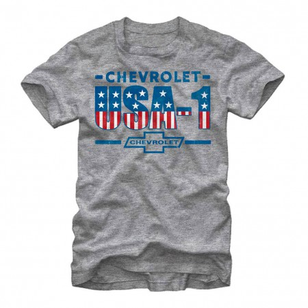 Chevrolet General Motors USA GM Gray T-Shirt