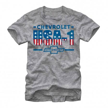Chevrolet General Motors USA GM Gray T-Shirt