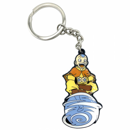Avatar: The Last Airbender Aang on Air Scooter Keychain