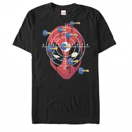Deadpool Target Practice Black Mens T-Shirt