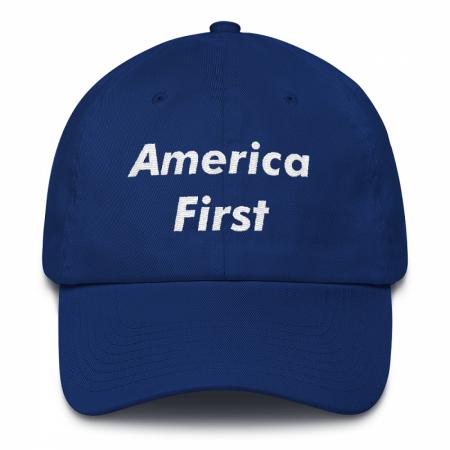 America First Blue Dad Hat