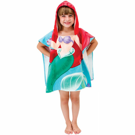 Disney Princess Little Mermaid Ariel Youth Hooded Poncho Towel