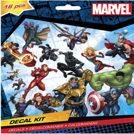 Marvel Avengers 16 Piece Decal Kit