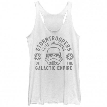 Star Wars Rogue One Elite Troop White Juniors Racerback Tank Top