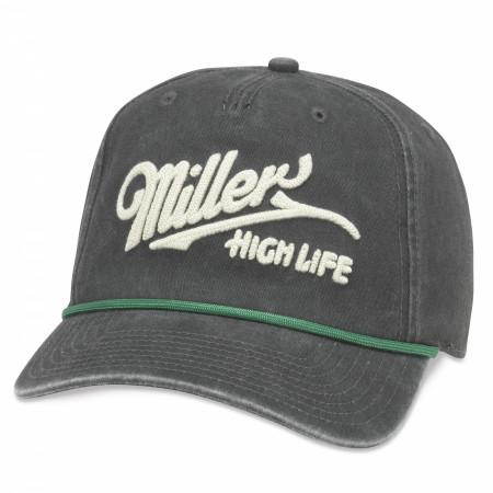 Miller High Life Embroidered Logo Snapback Hat