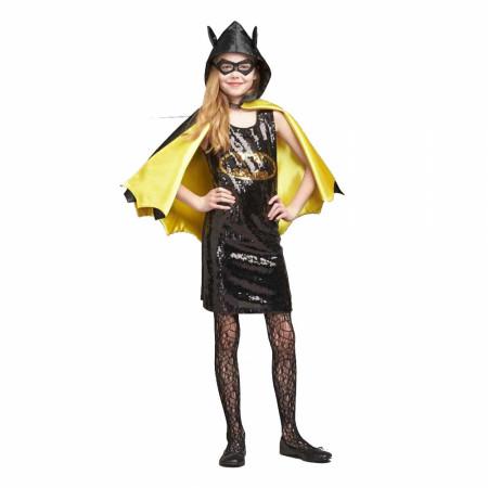 DC Comics Batgirl Sequin Dress with Mask & Cape