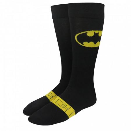 Batman Symbol and Costume Crew Socks 2-Pair Pack