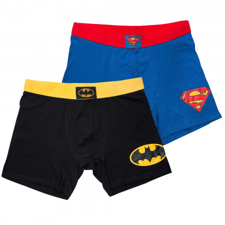 Batman & Superman Men's Boxer Briefs 2-Pack