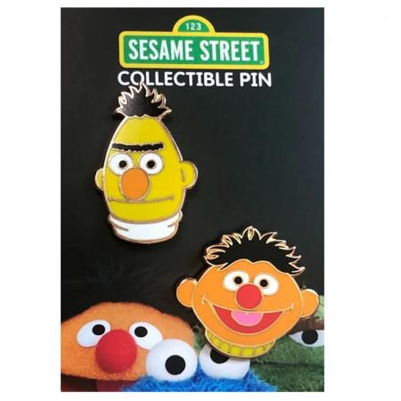 Bert and Ernie Set Sesame Street Enamel Pins