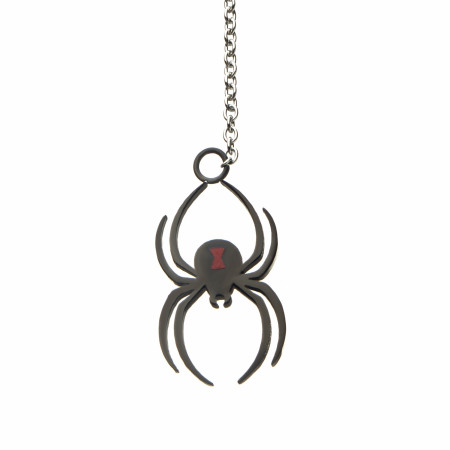 Black Widow Moive Spider Lariat Necklace
