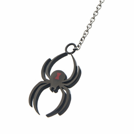 Black Widow Moive Spider Lariat Necklace