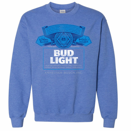 Bud Light Bottle Label Crewneck Sweatshirt