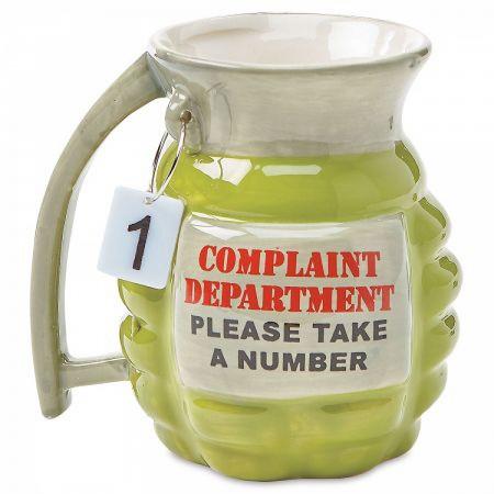 Complaint Department Grenade Ceramic Mug