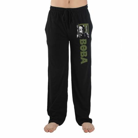 Star Wars Boba Fett Character Image and Text Pajama Sleep Pants