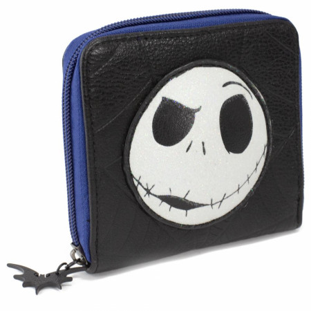 Nightmare Before Christmas Jack Expression Zipper Around Wallet
