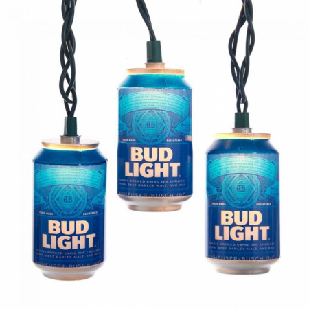 Bud Light Beer Can String Light Set