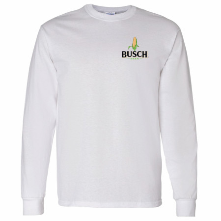 Busch Beer Corn Chest Logo Long Sleeve Shirt