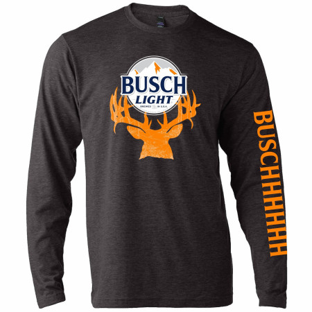 Busch Light Deer Hunter Logo Long Sleeve Shirt