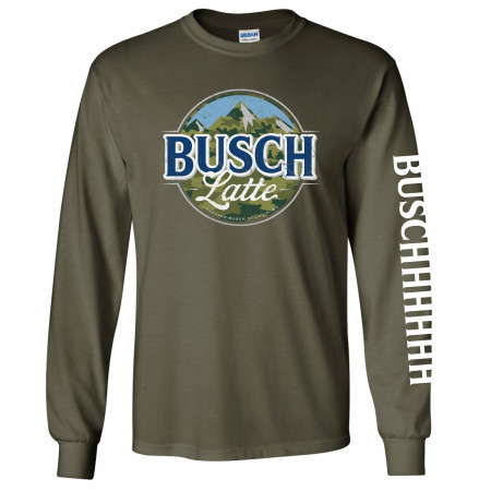 Busch Latte Camouflage Logo Long Sleeve Shirt