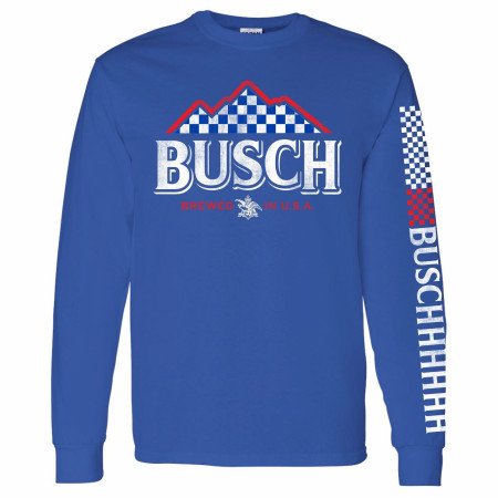 Busch Beer Racing Sleeve Print Long Sleeve Shirt