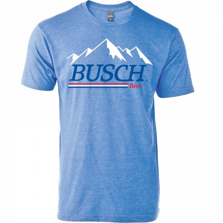 Busch Beer Mountain Logo Red White and Blue T-Shirt