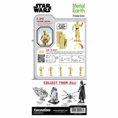 Star Wars C-3PO Character Premium 3D Metal Earth Model Kit